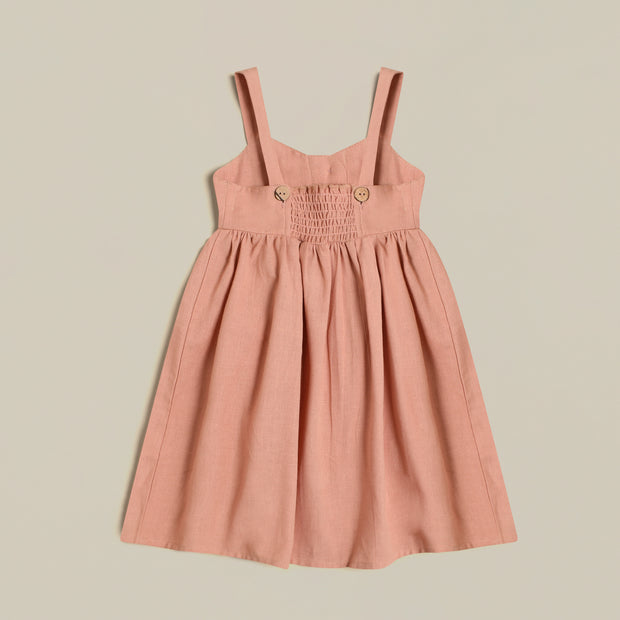 'Noelle' Linen Rose Dress