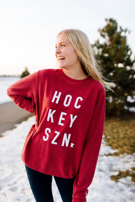 Hockey Szn Oversized Corduroy Crew Neck - Fan Girl MN