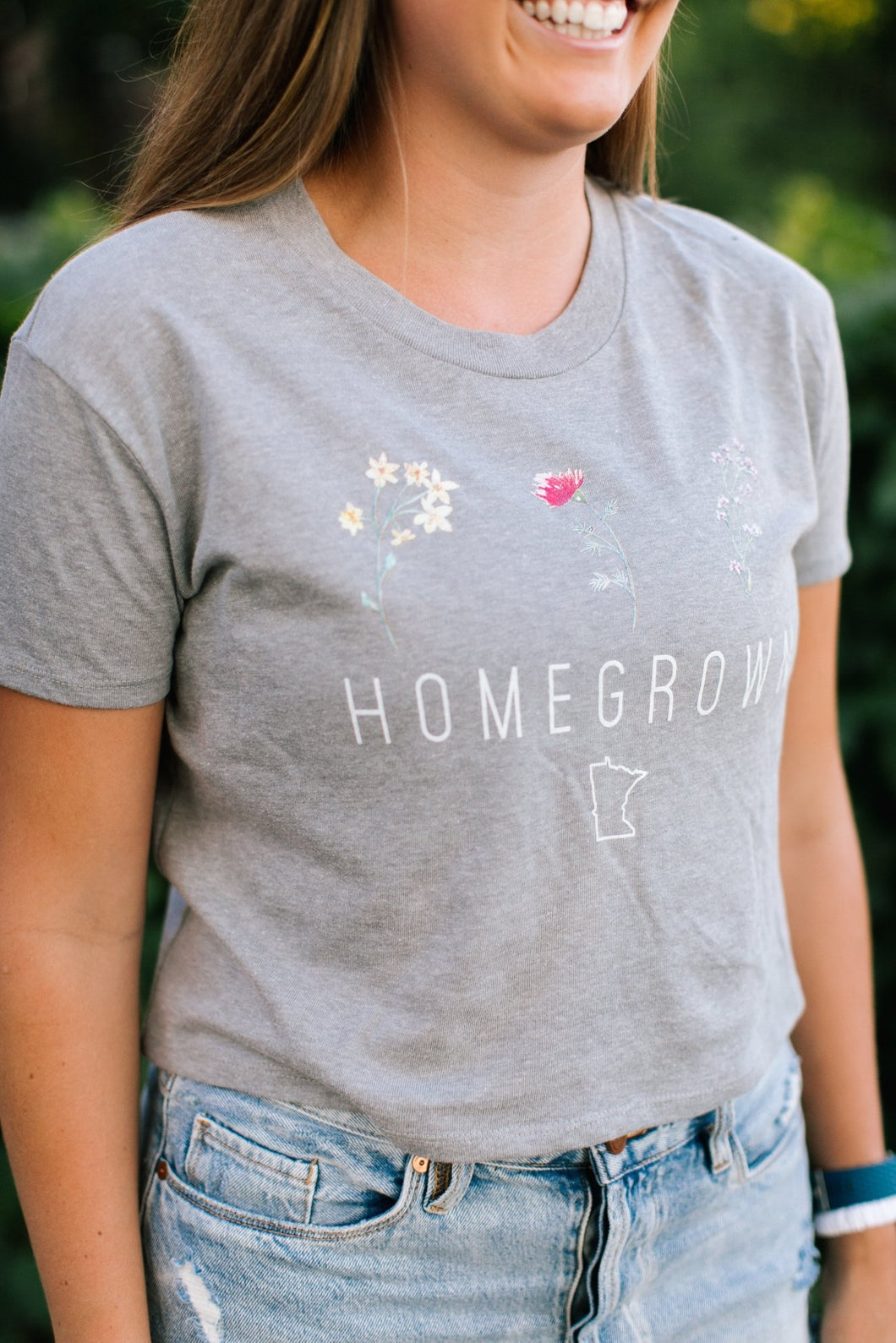 Homegrown Cropped Tee - Fan Girl MN