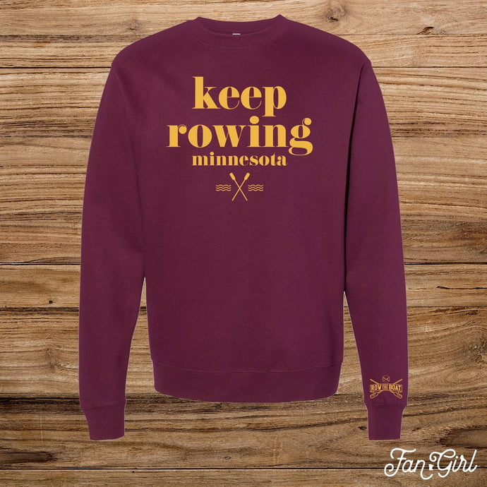 Keep Rowing Fleece Crew - Fan Girl MN