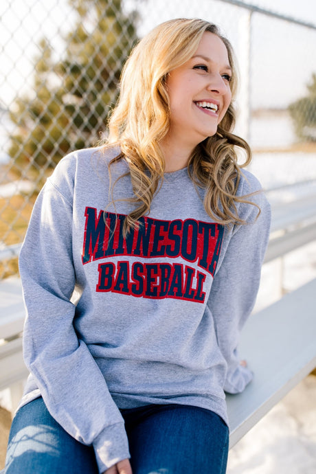 Minnesota Baseball Vintage Crew Neck - Fan Girl MN
