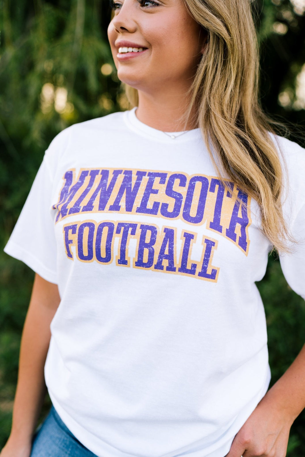 Minnesota Football Oversized Vintage Tee - Fan Girl MN