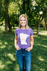 MN Vikes Girlfriend Tee - Fan Girl MN
