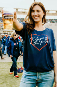 Playing the Field Drop Shoulder Tee - Fan Girl MN