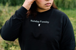 Sunday Funday Cropped Retro Long Sleeve - Fan Girl MN