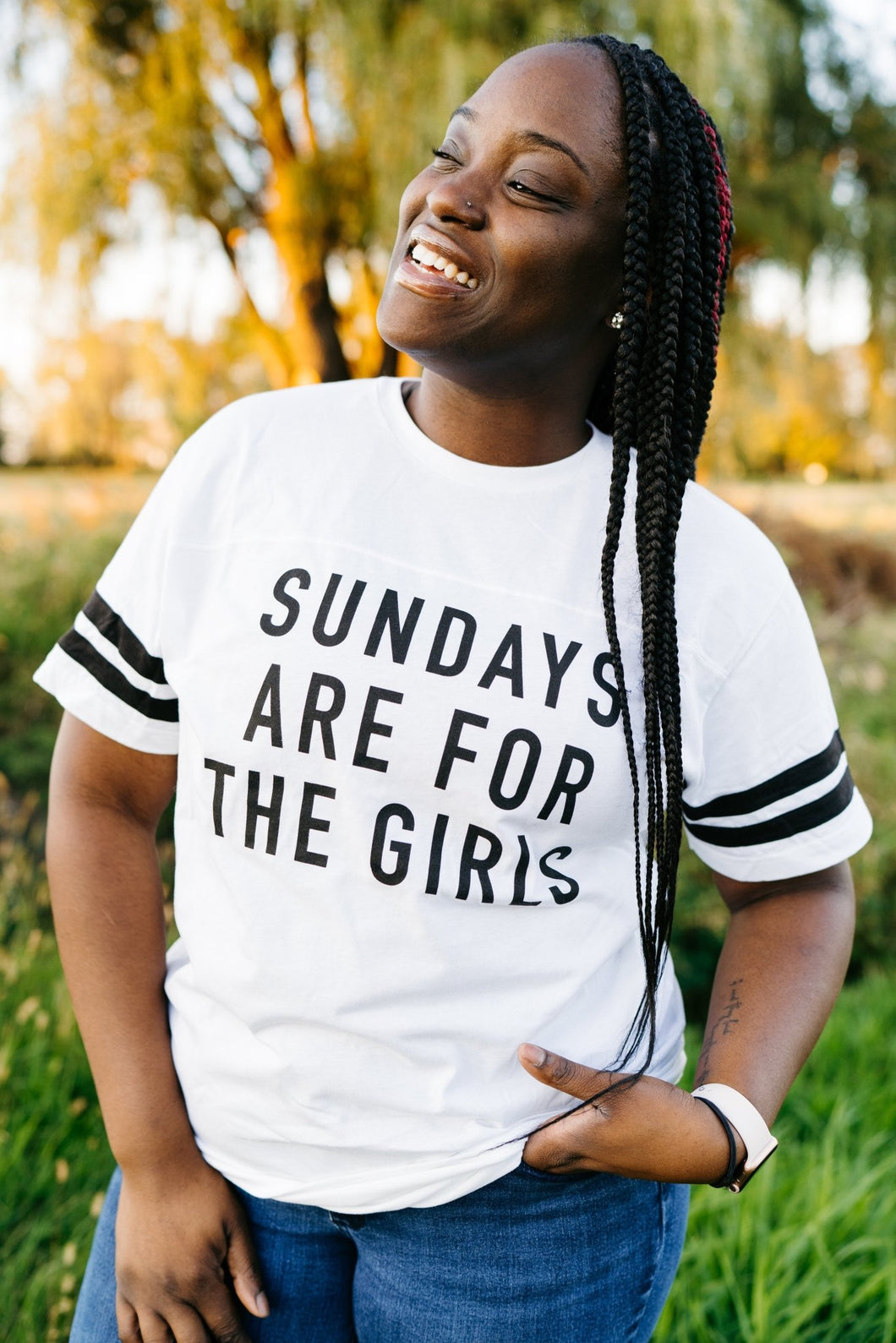 Sunday's Are For The Girls Tee - Fan Girl MN