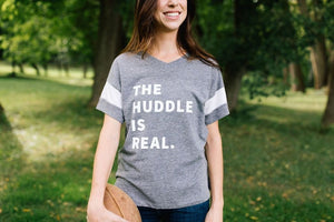 The Huddle is Real V-neck - Fan Girl MN