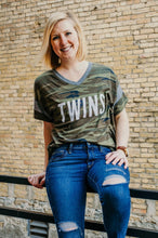 Twins V-Neck Camo Tee - Fan Girl MN