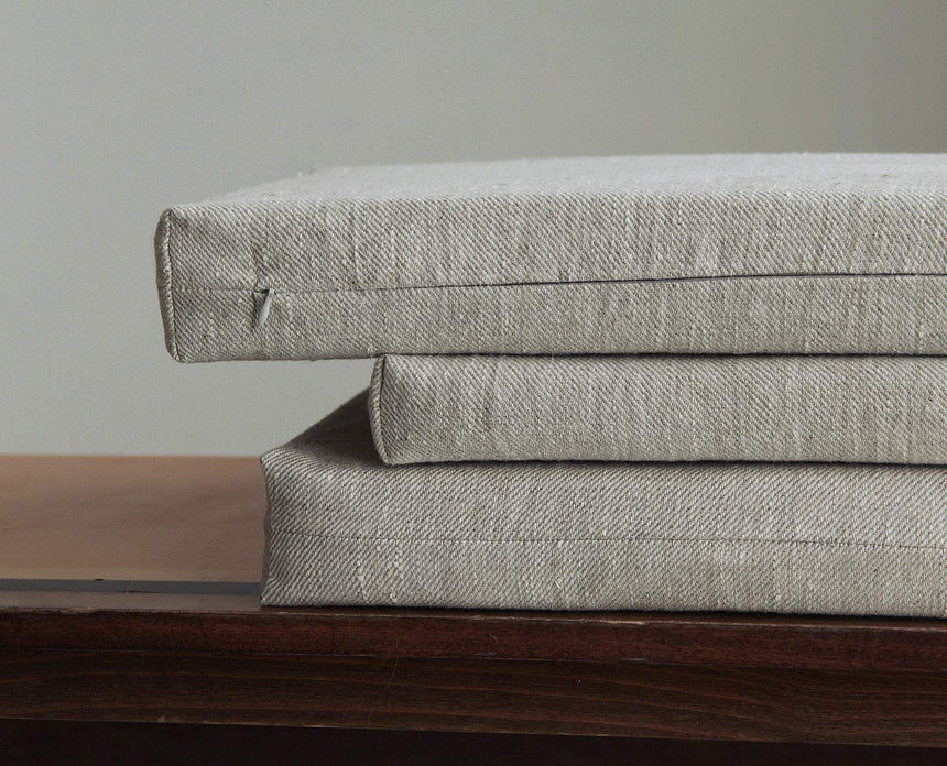 Italian linen seating pads.