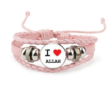 Load image into Gallery viewer, Islamic Leather Beaded Bracelet