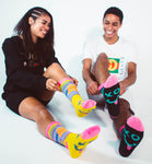 XO Smile Back Socks - Black