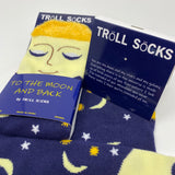 I Love You To The Moon And Back Socks w/ Cards