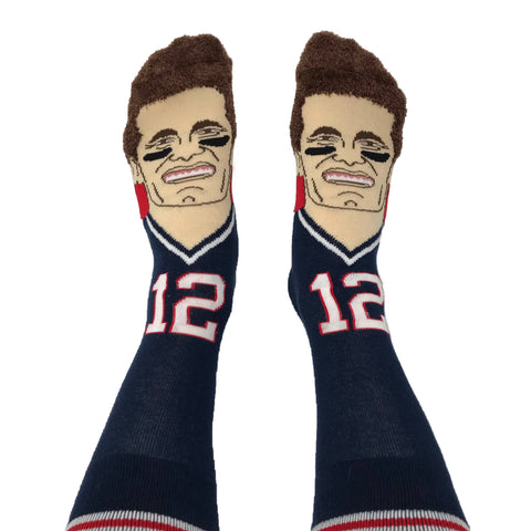Tom Brady Socks, Tom Brady Gear, Tom Brady Gifts, Tom Brady Fan Gifts, Gifts for Tom Brady Fans, Tom Brady memorabilia, Patriots gifts, New England Patriots socks, New England Patriots gifts,