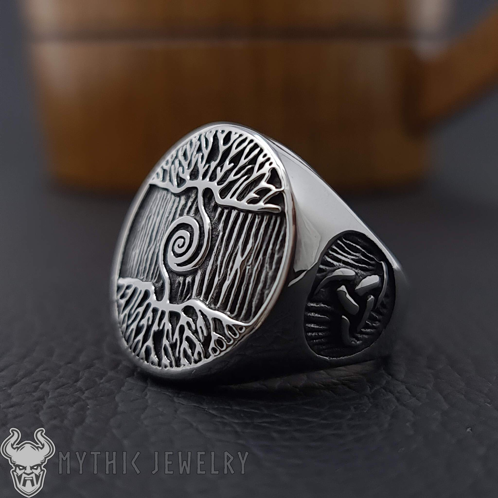 Details about  /Tree Of Life Ring Yggdrasill Norse Mens Scandinavian Mythological Signet Viking