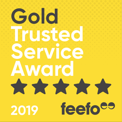 gold trusted service award 2019
