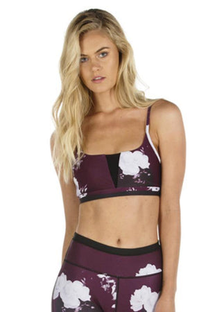 WOMENS BRAS ALL FENIX Burgundy Bloom Crop