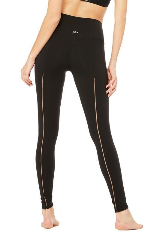 WOMENS LEGGINGS Alo Yoga High Waist Dash Legging - Black