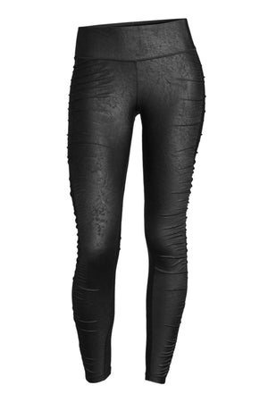 WOMENS LEGGINGS 34 (U.K 8) Casall Simply Leatherlike 7/8 Tights - Black