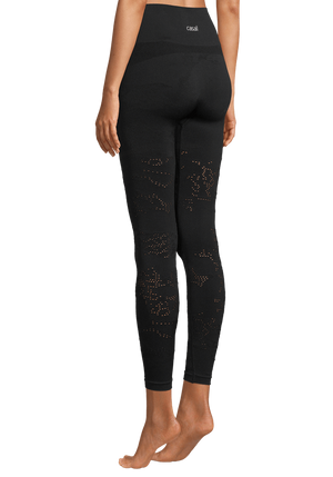WOMENS LEGGINGS S (U.K 8) Casall Seamless Skin Tights – Black