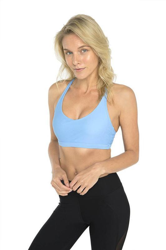 WOMENS BRAS Dharma Bums Triangle Back Sports Bra - Powder