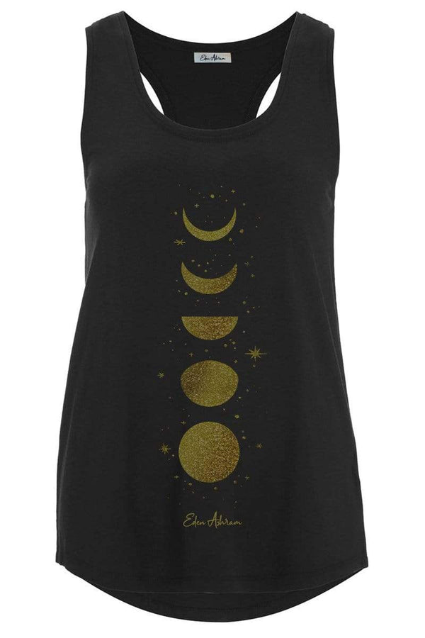 Women's Tops/Tanks Moon Cycle Bamboo Racerback Tank - Vintage Black