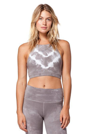 WOMENS BRAS Electric & Rose Grayson Crop - Thunder / Cloud