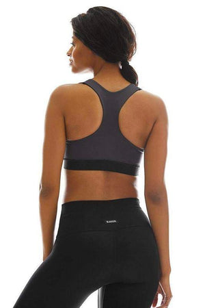 WOMENS BRAS K-DEER Solid Charcoal Reversible Racerback Bra