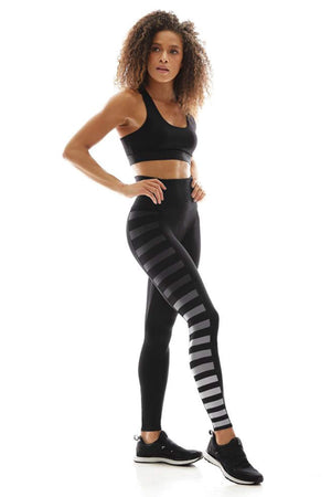 WOMENS LEGGINGS XS (U.K 4-6) K-DEER Sneaker Sideline Legging - Jody Stripe