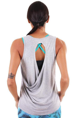 Women's Tops/Tanks Liquido Raindrop Tank - Light Grey