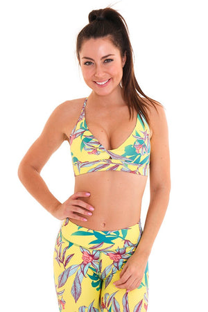 WOMENS BRAS Liquido OM Twisted Bra - Sunny Day