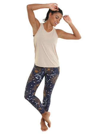 WOMENS LEGGINGS Liquido 7/8 Legging - Astral Map