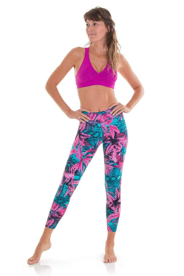 WOMENS LEGGINGS Liquido 7/8 Legging - Snake Garden