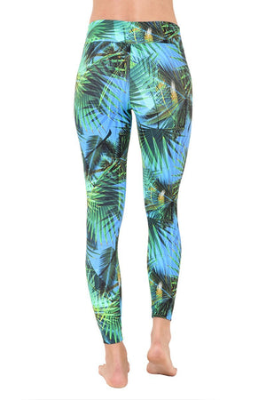 WOMENS LEGGINGS Liquido Extra Long Pattern Legging - Caipirinha Beach