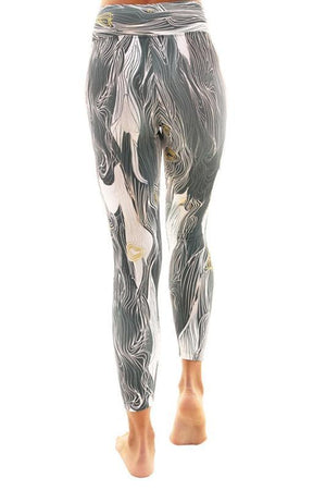 WOMENS LEGGINGS Liquido Patterned Legging - Abstract Waves