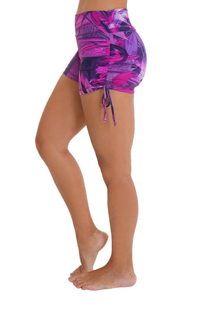 WOMENS SHORTS Liquido Om Shine Shorts - Pink Forest