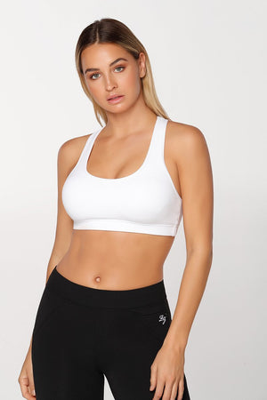 WOMENS BRAS LORNA JANE Comfort Sports Bra White