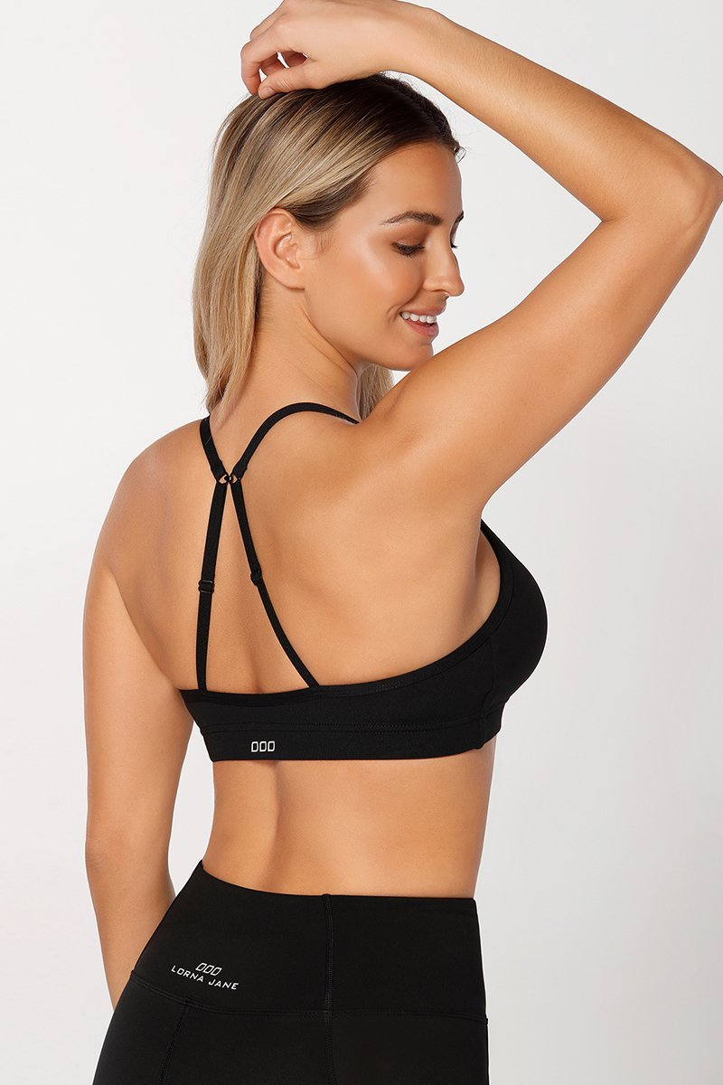f38c62be43 LORNA JANE Pammy Sports Bra Black - YOGA REBEL