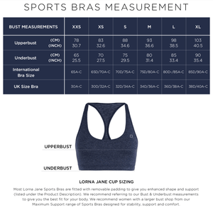 WOMENS BRAS LORNA JANE Sammy Sports Bra Black