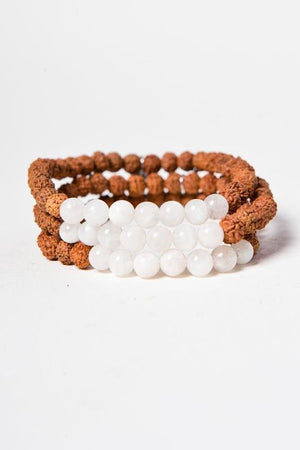 Jewellery Mala Collective 108 White Moonstone Bracelet