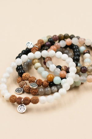 Jewellery Mala Collective 'I Am Intuitive' White Moonstone Bracelet