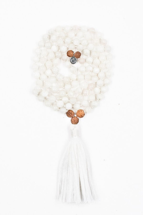 Jewellery Mala Collective Meditate Mala 'I Am Intuitive' - White Moonstone
