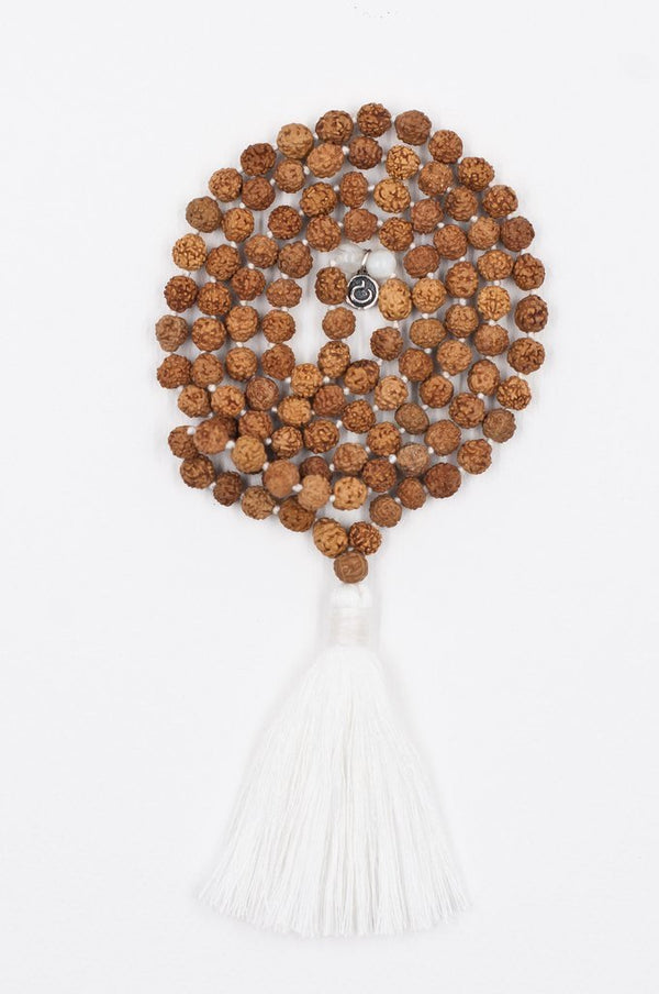 Jewellery Mala Collective Meditate Mala - White Rudraksha