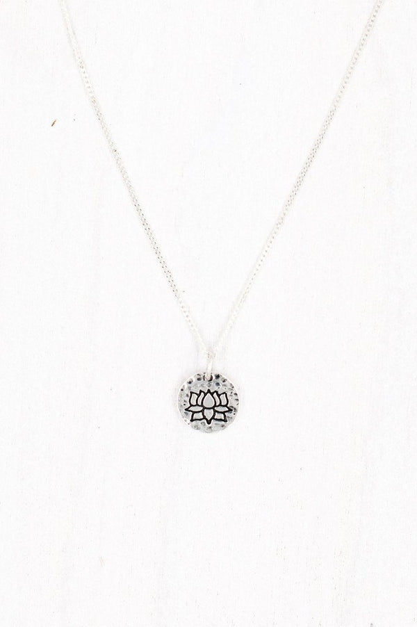 Jewellery Mala Collective Silver Dainty Lotus