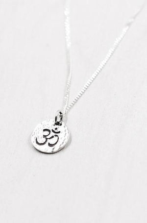 Jewellery Mala Collective Silver Dainty OM