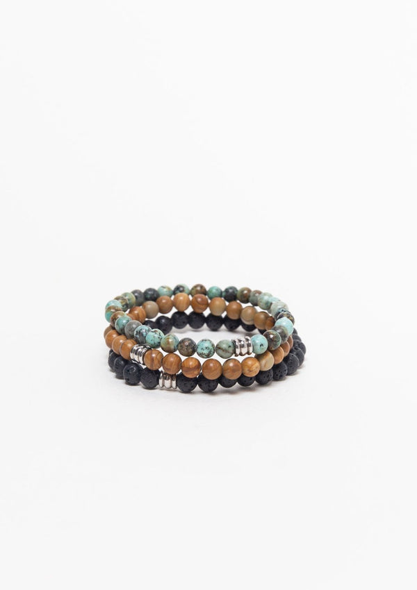 Jewellery Mala Collective Spiritual Surfer Bracelet Stack
