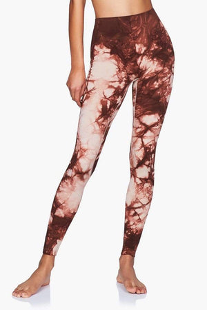 WOMENS LEGGINGS XS (U.K 8) Moonchild Illusion Leggings - Marsalla