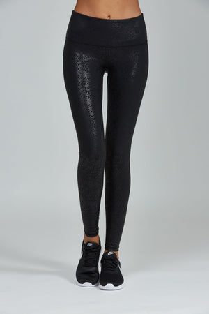 WOMENS LEGGINGS XS (U.K 6) Noli Gloss Legging - Black