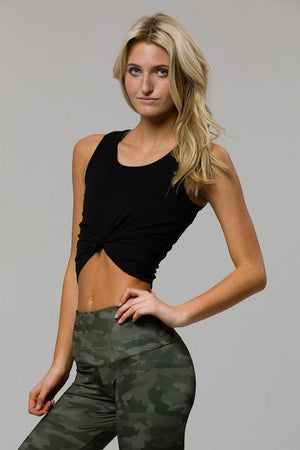 Women's Tops/Tanks ONZIE Knot Crop Top - Black