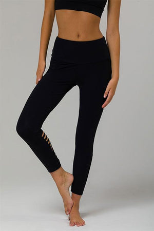 WOMENS LEGGINGS ONZIE Black Elevate Midi