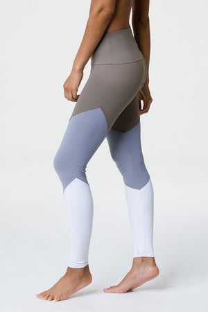 ONZIE High Rise Track Legging - Dust Fossil